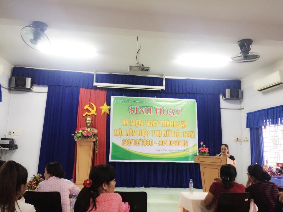 Kỷ niệm ngày thành lập Hội liên hiệp phụ nữ Việt Nam 20.10