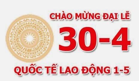 Thông báo nghỉ lễ Giỗ tổ Hùng Vương - giải phóng miền nam 30/4 và Quốc tế lao động 1/5